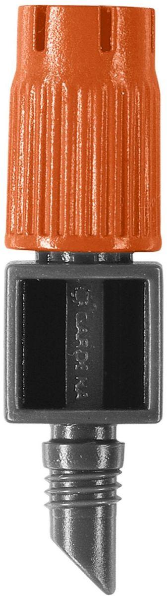 Микродождеватель для малых площадей Gardena, 10 шт. 08320-29.000.0008320-29.000.00Микродождеватель для малых площадей GARDENA является элементом системы микрокапельного полива GARDENA Micro-Drip-System и предназначен для направленного полива кустарников. Предусмотрена возможность регулировки диаметра зоны полива в диапазоне 10-40 см. Микродождеватель устанавливается на магистральный шланг диаметром 13 мм (1/2 дюйма). Съемный регулируемый наконечник снабжен встроенной иглой для прочистки дождевателя в случае его засорения. В комплект поставки входят десять микродождевателей.