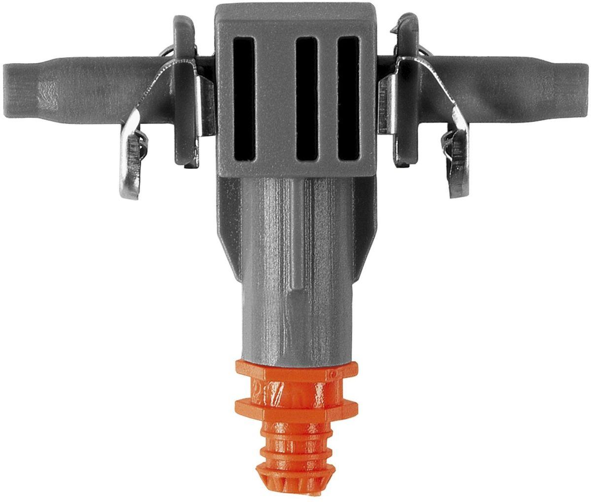 Капельница внутренняя Gardena, 2л/час, 10 шт. 08343-29.000.0008343-29.000.00Капельница внутренняя GARDENA является элементом системы микрокапельного полива GARDENA Micro-Drip-System и предназначена для направленного полива посаженных в ряд растений с одинаковой потребностью в воде, например, на балконе. Производительность капельницы около 2 л/ч. Благодаря патентованной технологии быстрого подсоединения Quick & Easy, крепление капельницы к подающему шлангу диаметром 4,6 мм (3/16 дюйма) выполняется особенно просто. В комплект поставки входят десять капельниц, одна игла для прочистки и одна заглушка. Игла предназначена для удобной прочистки загрязненных капельниц.