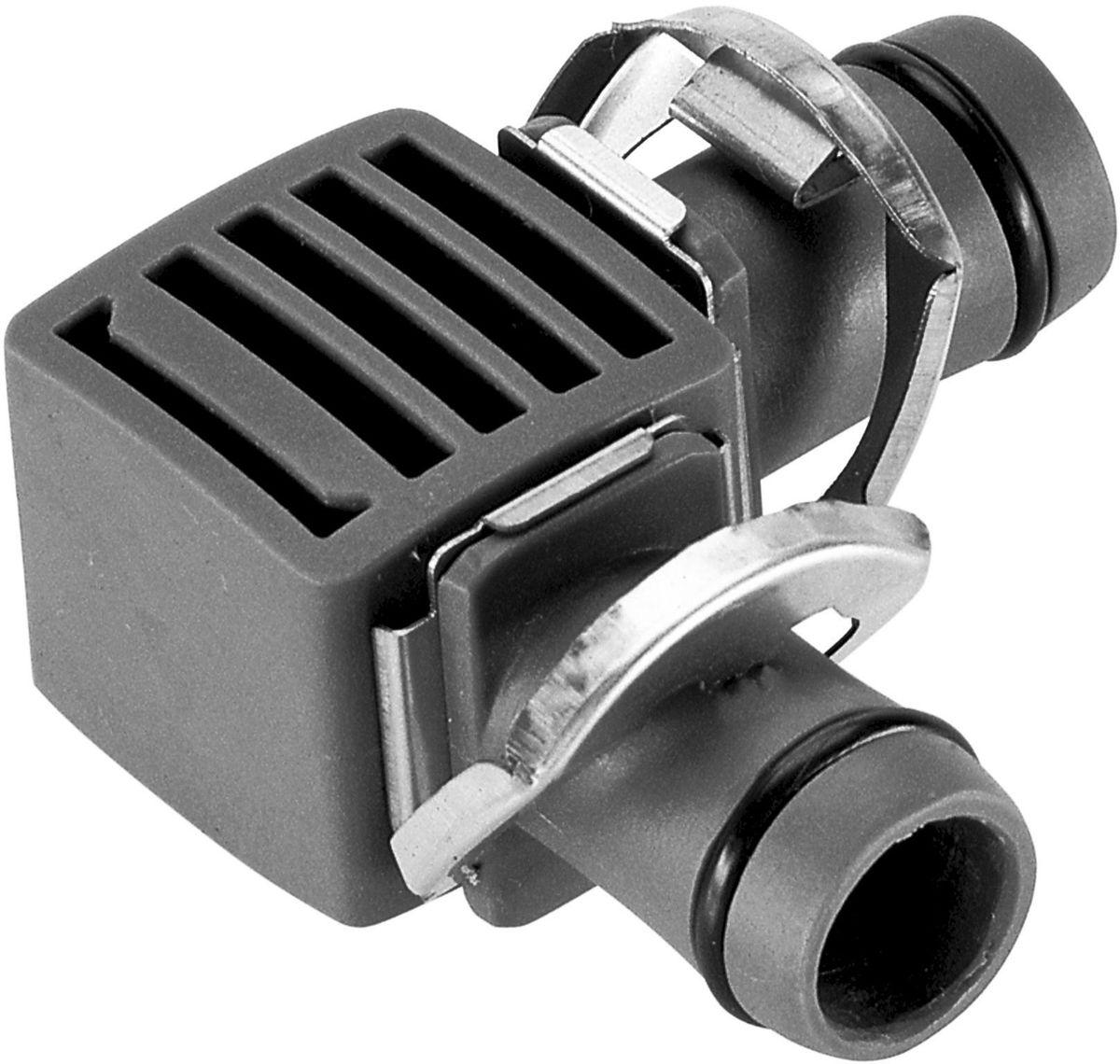 Соединитель Gardena, L-образный 13 мм (1/2), 2 шт. 08382-29.000.0008382-29.000.00Соединитель L-образный GARDENA является элементом системы микрокапельного полива GARDENA Micro-Drip-System и предназначен для изменения направления магистрального шланга. Благодаря патентованной технологии быстрого подсоединения Quick & Easy, установка соединителя чрезвычайно проста. В комплект поставки входят два L-образных соединителя.