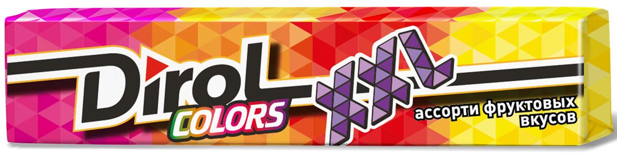 Dirol Colors XXL ассорти фруктовых вкусов жевательная резинка без сахара, 19 г