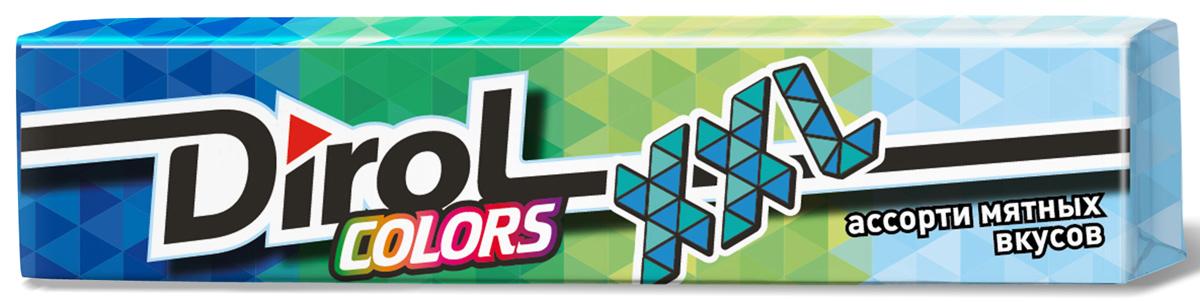 Dirol Colors XXL ассорти мятных вкусов жевательная резинка без сахара, 19 г
