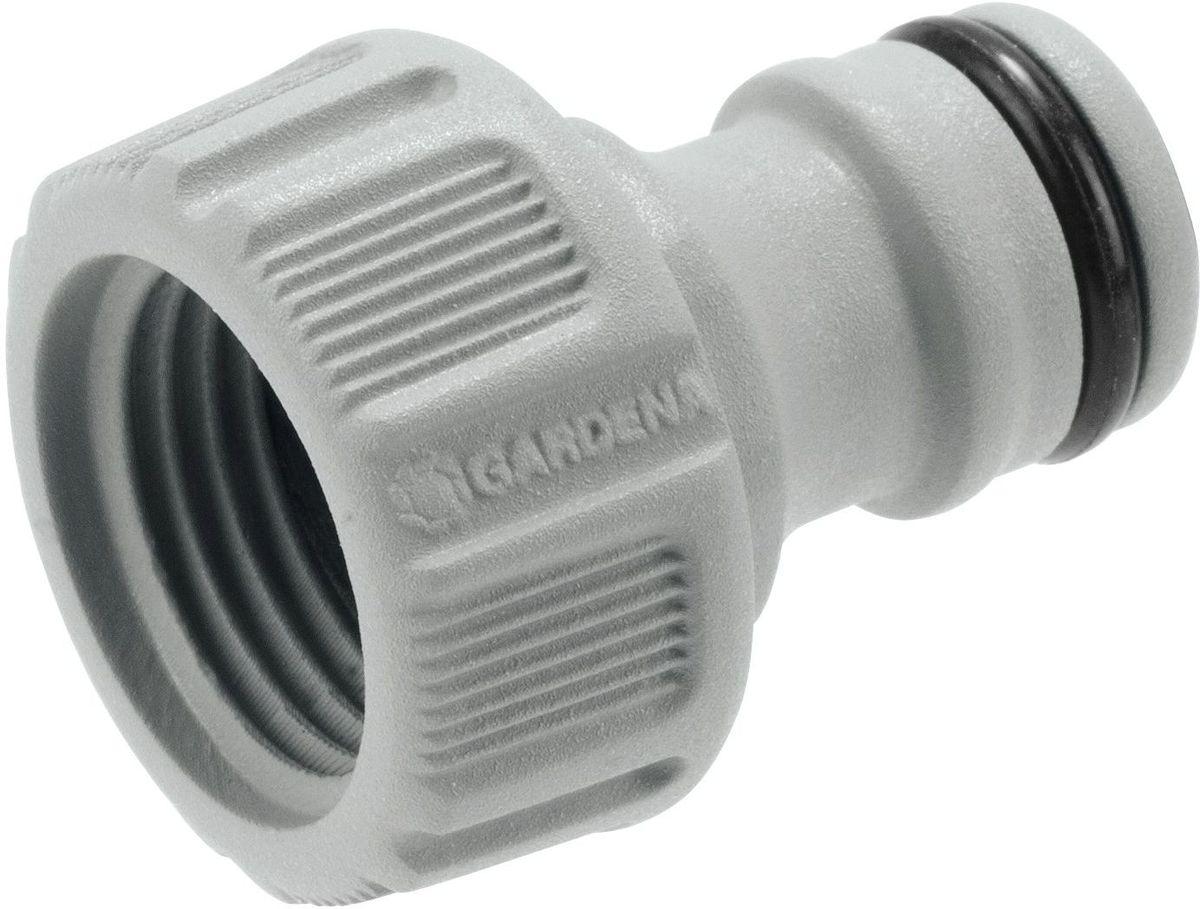 Штуцер Gardena, резьбовой 1/2. 18200-29.000.0018200-29.000.00Предназначен для соединения с резьбовыми кранами. Легко устанавливается. Не требует использования инструментов. Для кранов диаметром 16,7 мм (G 3/8) с резьбой 21мм ( G 1/2).
