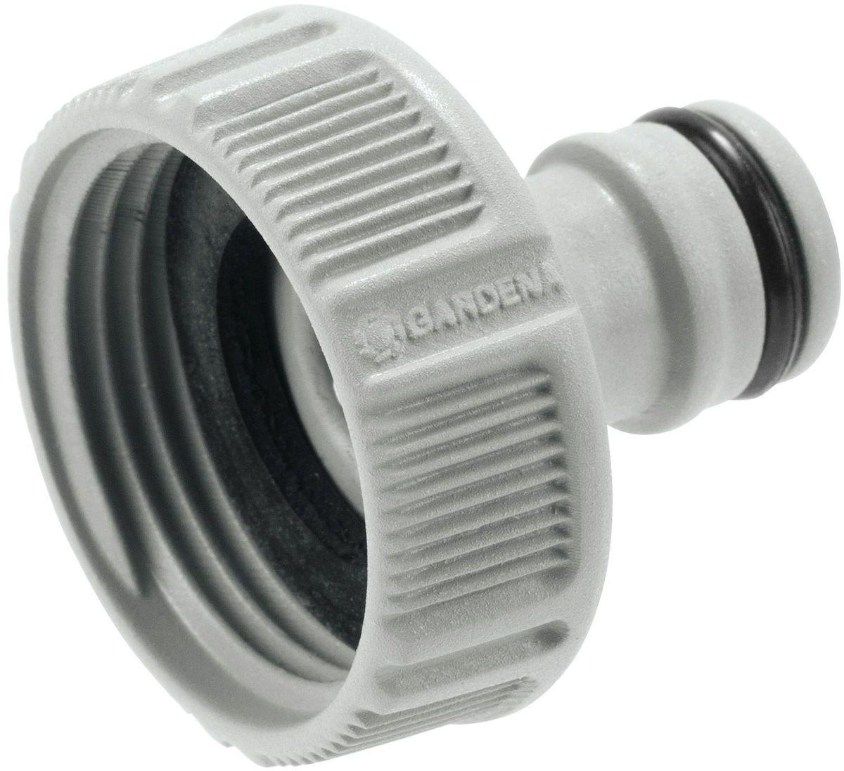 Штуцер Gardena, резьбовой 1. 18202-29.000.0018202-29.000.00Предназначен для соединения с резьбовыми кранами. Легко устанавливается. Не требует использования инструментов. Для кранов диаметром 26,5 мм (G 3/4) с резьбой 33,3 мм ( G 1).