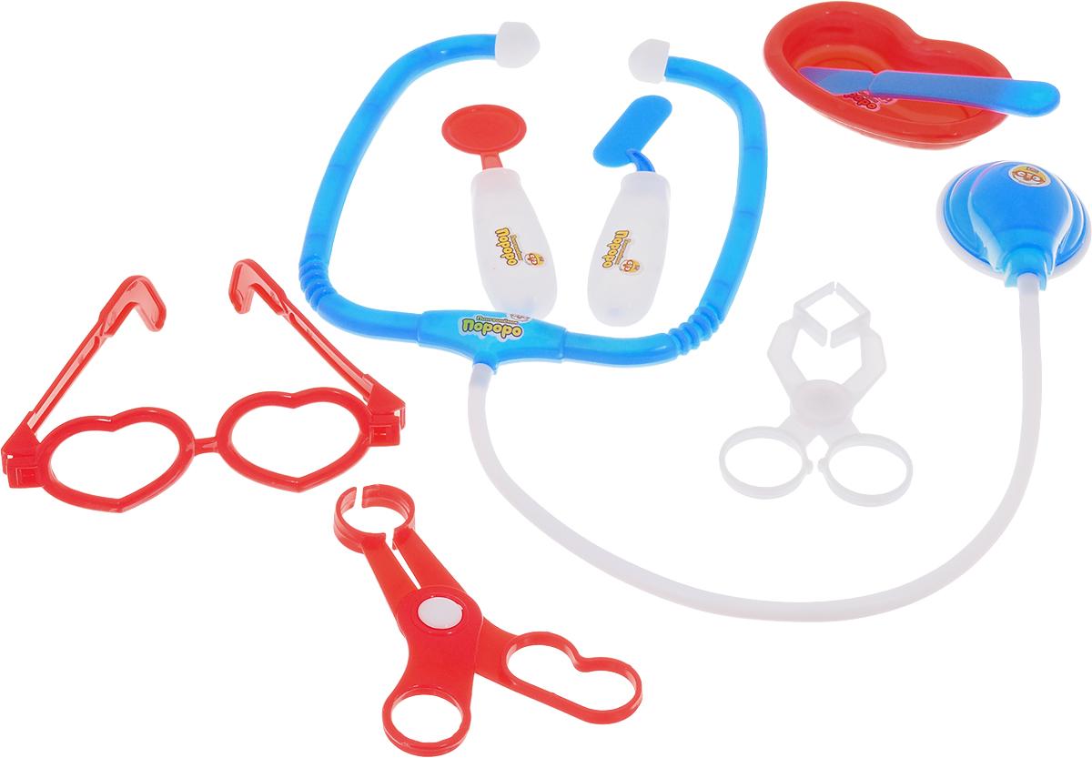 1TOY Игровой набор Пингвиненок Пороро Доктор цвет красный