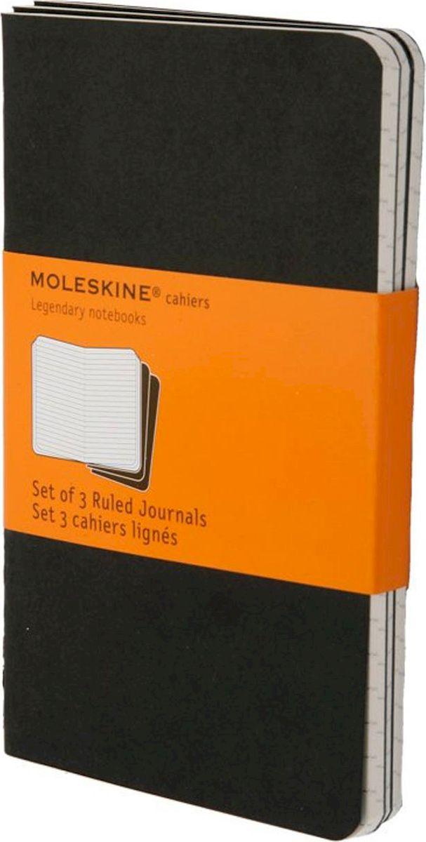 Moleskine Блокнот Cahier Journal Pocket в линейку черный 3 штQP311ENЛегкая и компактная записная книжка Moleskine Cahier поместится в любом кармане. Блокнот - незаменимый помощник в офисе, дома или в университете. Он сохранит любую информацию, будь то телефоны или адреса друзей, список покупок или важные мысли. Благодаря небольшому формату ее легко взять с собой.