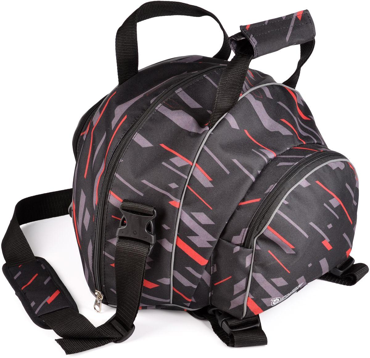 Сумка для переноски шлема Starks, цвет: серыйЛЦ0046Водонепроницаемая сумка предназначена для переноски стандартного шлема, без козырька (если он не снимается). Имеет удобную, отстегивающуюся лямку через плечо. Дополнительные карманы по бокам, для переноски перчаток, подшлемников и другого. Сумка имеет функцию установки на пассажирское сиденье в роли центрального кофра, для перевозки шлема или различных вещей. Светоотражающие элементы- добавляют безопасности в темное время.