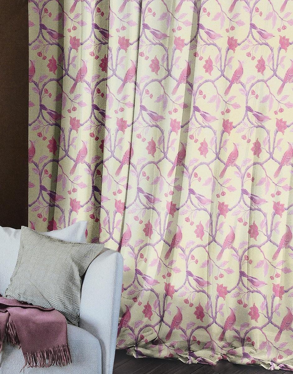 Комплект штор Волшебная ночь Fairy Forest, на ленте, высота 270 см704555Комплект штор Волшебная ночь Fairy Forest в стиле этно - это готовое решение для вашего интерьера, гарантирующее красоту, удобство и индивидуальный стиль. Шторы изготовлены из тонкой и легкой ткани вуаль, которая почти не препятствует прохождению света, но защищает комнату от посторонних взглядов. Длина штор регулируется с помощью клеевой паутинки (в комплекте). Изделия крепятся на вшитую шторную ленту: на крючки или путем продевания на карниз. С текстилем марки Волшебная ночь сменить интерьер легко. Комбинируйте шторы с постельным бельем, покрывалами и аксессуарами в любимом стиле.