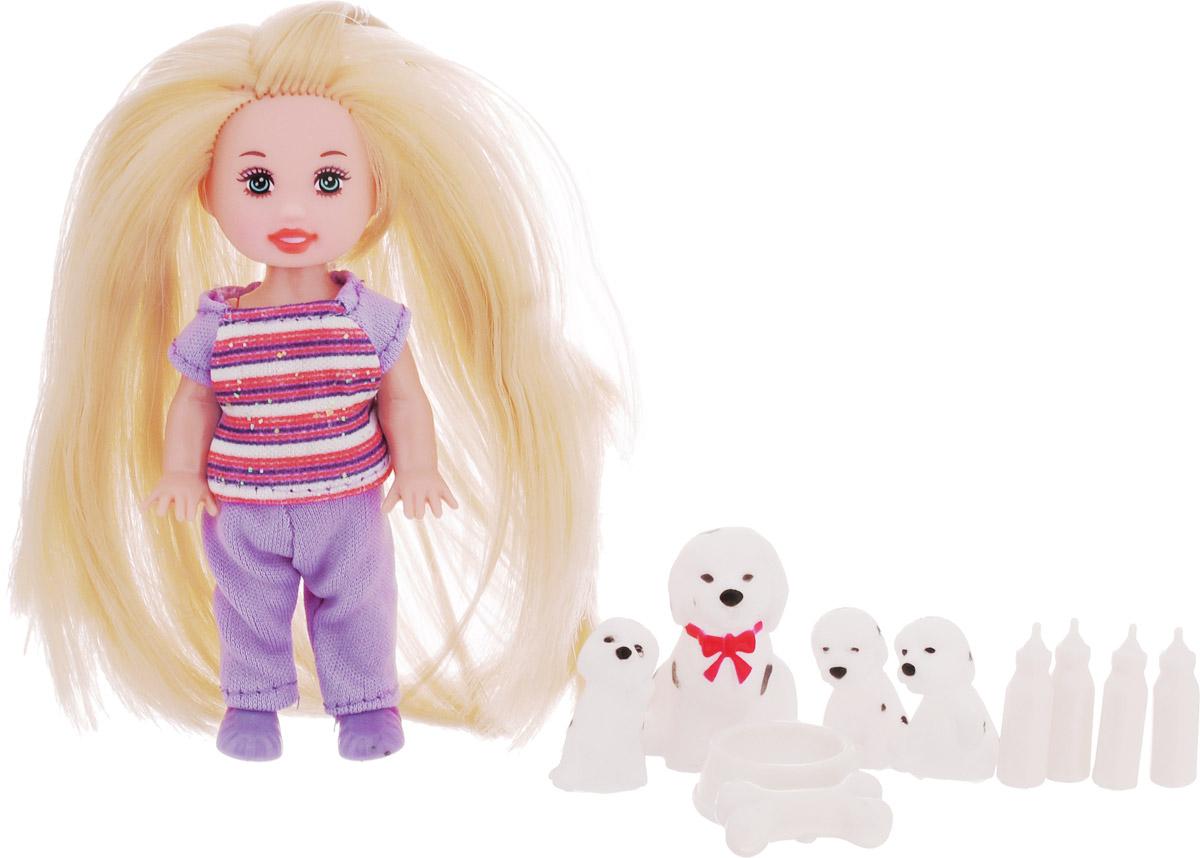 Little You Игровой набор с мини-куклой Лиза со щенками