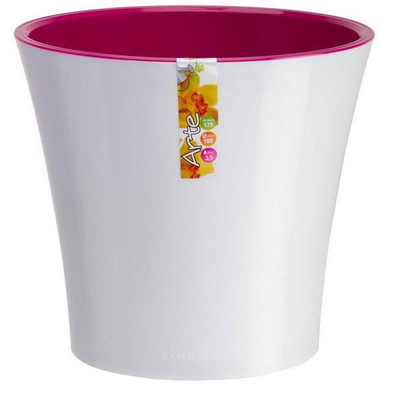Горшок цветочный Santino Арте, двойной, с системой автополива, цвет: белый, лиловый, 5 лАРТ 5 Б-ЛСистем автополива - гарантия здоровья ваших цветов. Экономия времени - решение для самых занятых. Чистота и удобство - нет протекания воды при поливе. Здоровые корини - нет застаивания корней в воде. Оптимальный рост - корни обеспечены циркуляцией воздуха.