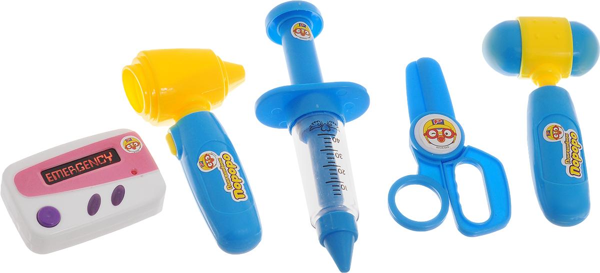 1TOY Игровой набор Пингвиненок Пороро Доктор 5 предметов