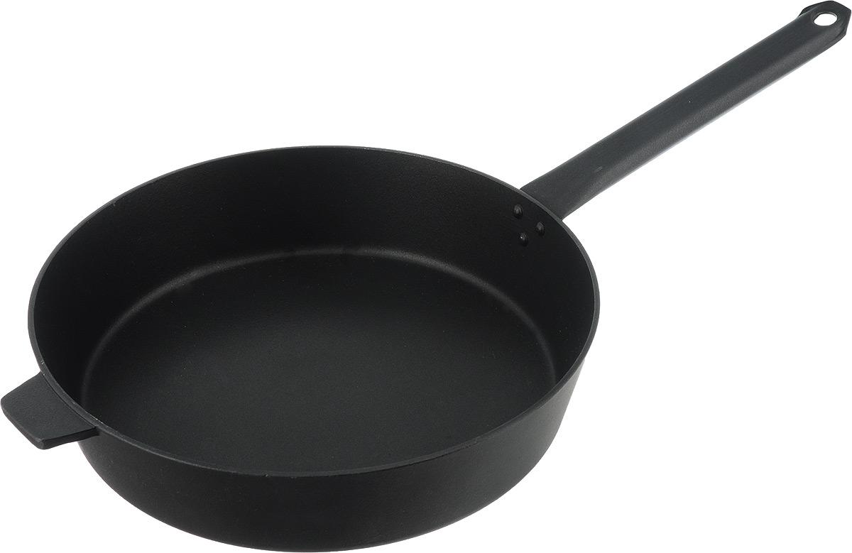 Сковорода Алита Хозяюшка, с антипригарным покрытием. Диаметр 28 см17301Сковорода Алита Хозяюшка изготовлена из литого алюминия с двухсторонним антипригарным покрытием. Благодаря такому покрытию, пища не пригорает и не прилипает к стенкам, готовить можно с минимальным количеством масла и жиров. Сковорода оснащена удобной металлической ручкой. А гладкая поверхность обеспечивает легкость ухода за посудой. Подходит для использования на всех типах плит, кроме индукционных. Диаметр сковороды (по верхнему краю): 24 см. Высота стенки: 7,5 см. Длина ручки: 23 см.