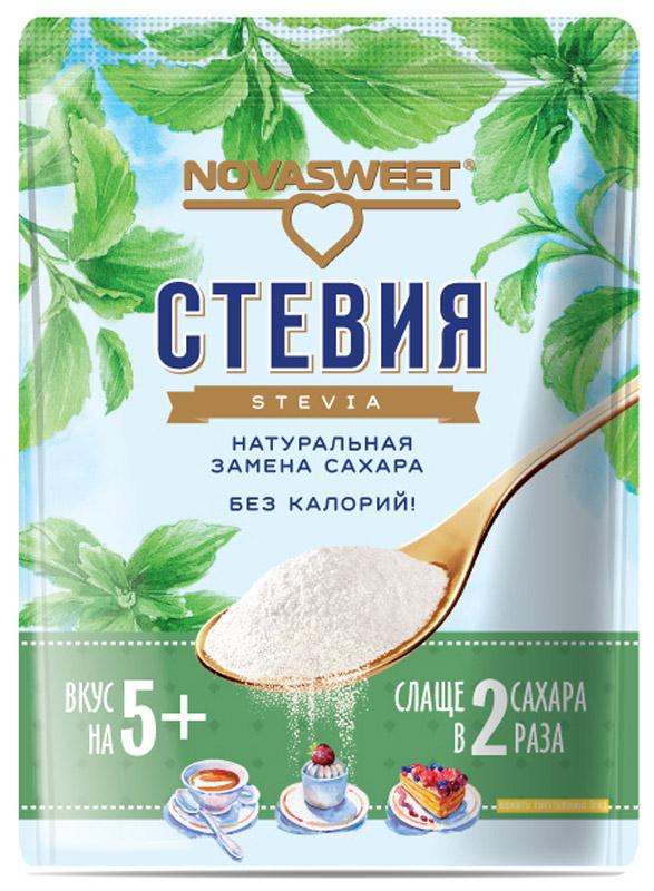 Novasweet стевия столовый подсластитель, 200 г4600013792593Подходит для ежедневного применения в рационах питания, направленных на снижение потребления сахара.