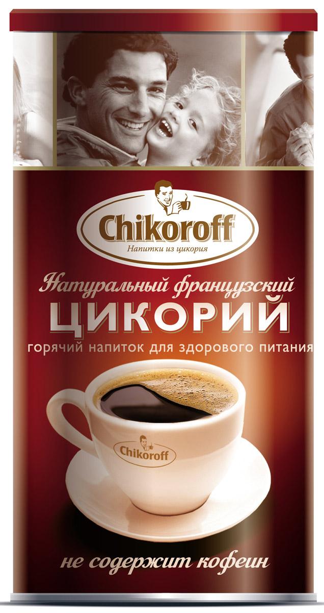 Chikoroff цикорий натуральный порошкообразный растворимый, 110 г4607013791039Горячий напиток для здорового питания, изготовленный из 100% корней цикория, выращенных и обработанных по уникальной технологии производства компании LEROUX (Франция). 52 % инулинаПреимущества: Не содержит кофеин, не повышает артериальное давление Содержит инулин - растительное пищевое волокно (в 1 порции 52% инулина от суточной норы), которое: - улучшает микрофлору кишечника - стимулирует рост и активность полезных бифидобактерий - улучшает усвоение организмов кальция Содержит витамины и минералы Разрешается использовать в питании детей школьного возраста Не содержит ГМО Без глютена