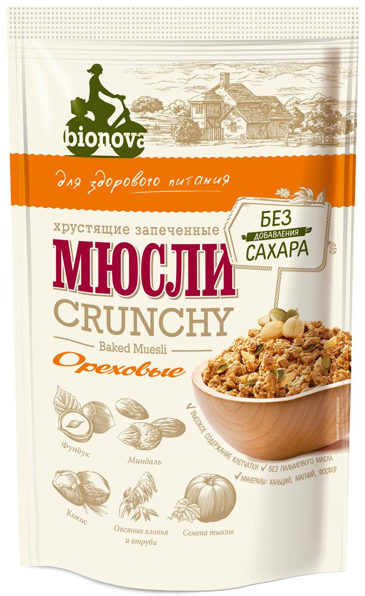 Bionova мюсли хрустящие запеченные Ореховые, 400 г