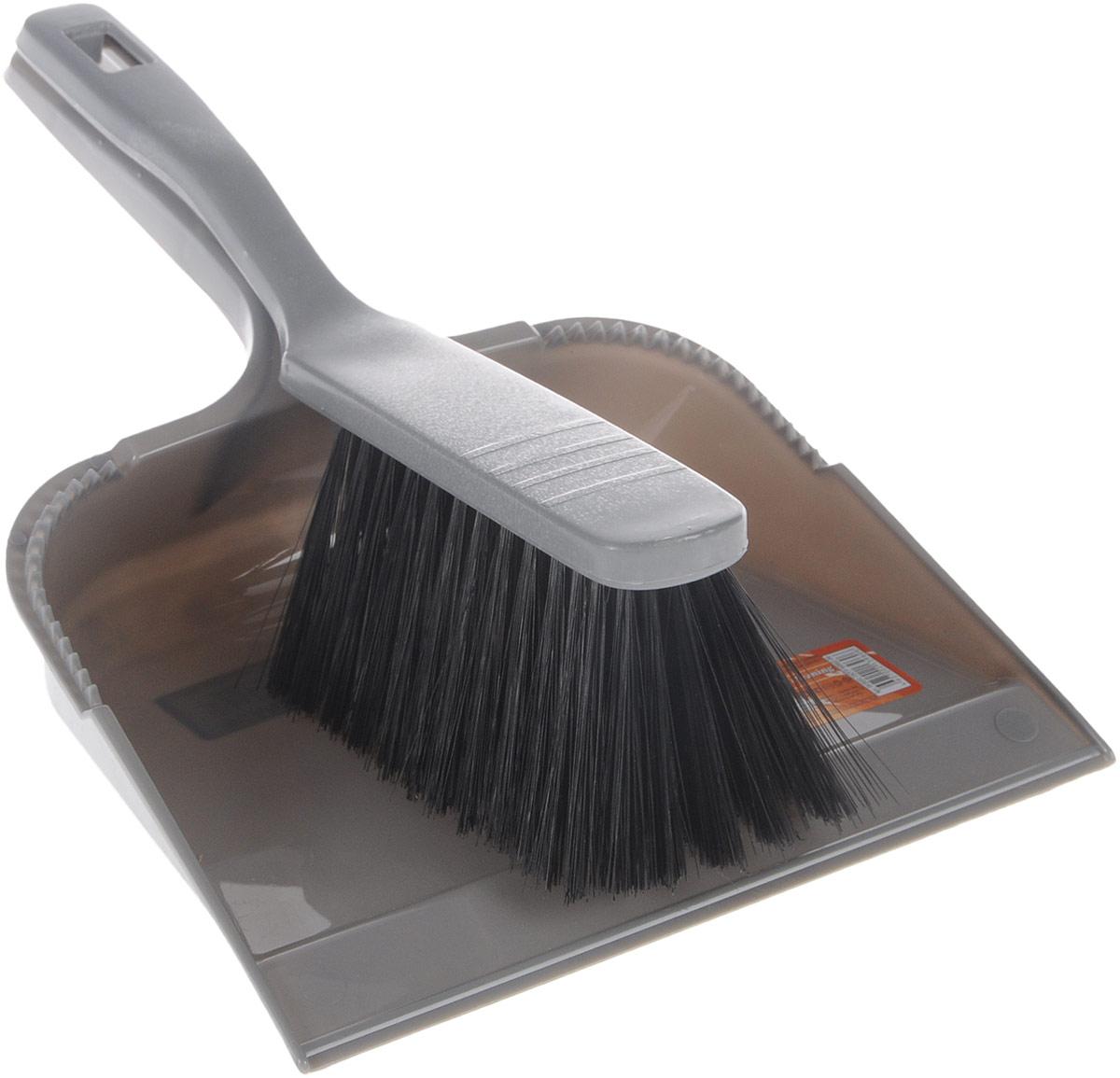 Набор для уборки Svip София, цвет: серый, 2 предметаSV3031СБНабор для уборки Svip София состоит из щетки-сметки и совка, выполненных из полипропилена. Он станет незаменимым помощником в деле удаления пыли и мусора с различных поверхностей. Ворс щетки достаточно длинный, что позволяет собирать даже крупный мусор. Края совка оснащены зубчиками для чистки щетки после ее использования. Ручка совка позволяет прикреплять его к рукоятке щетки. На рукояти изделий имеется специальное отверстие для подвешивания. Длина щетки-сметки: 28 см. Длина ворса: 6,5 см. Размер рабочей поверхности совка: 21,5 см х 18 см. Размер совка (с учетом ручки): 32 см х 21,5 см х 6 см.