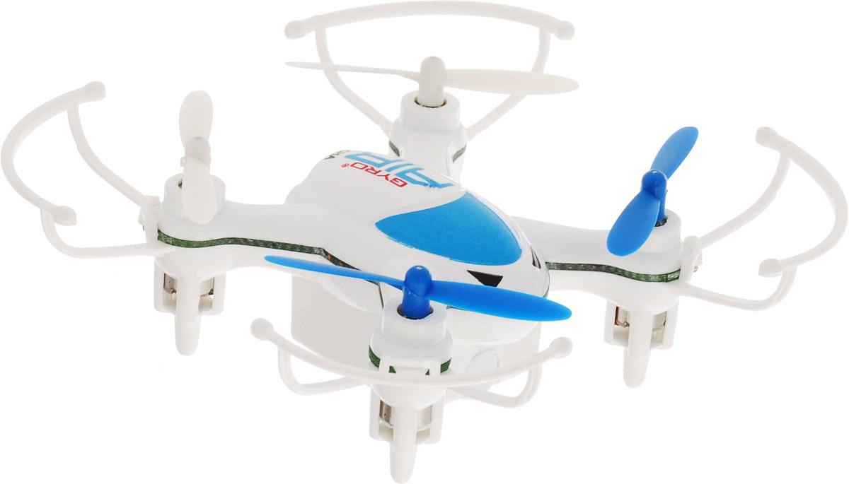 1TOY Квадрокоптер на радиоуправлении Gyro-Air цвет белый голубой