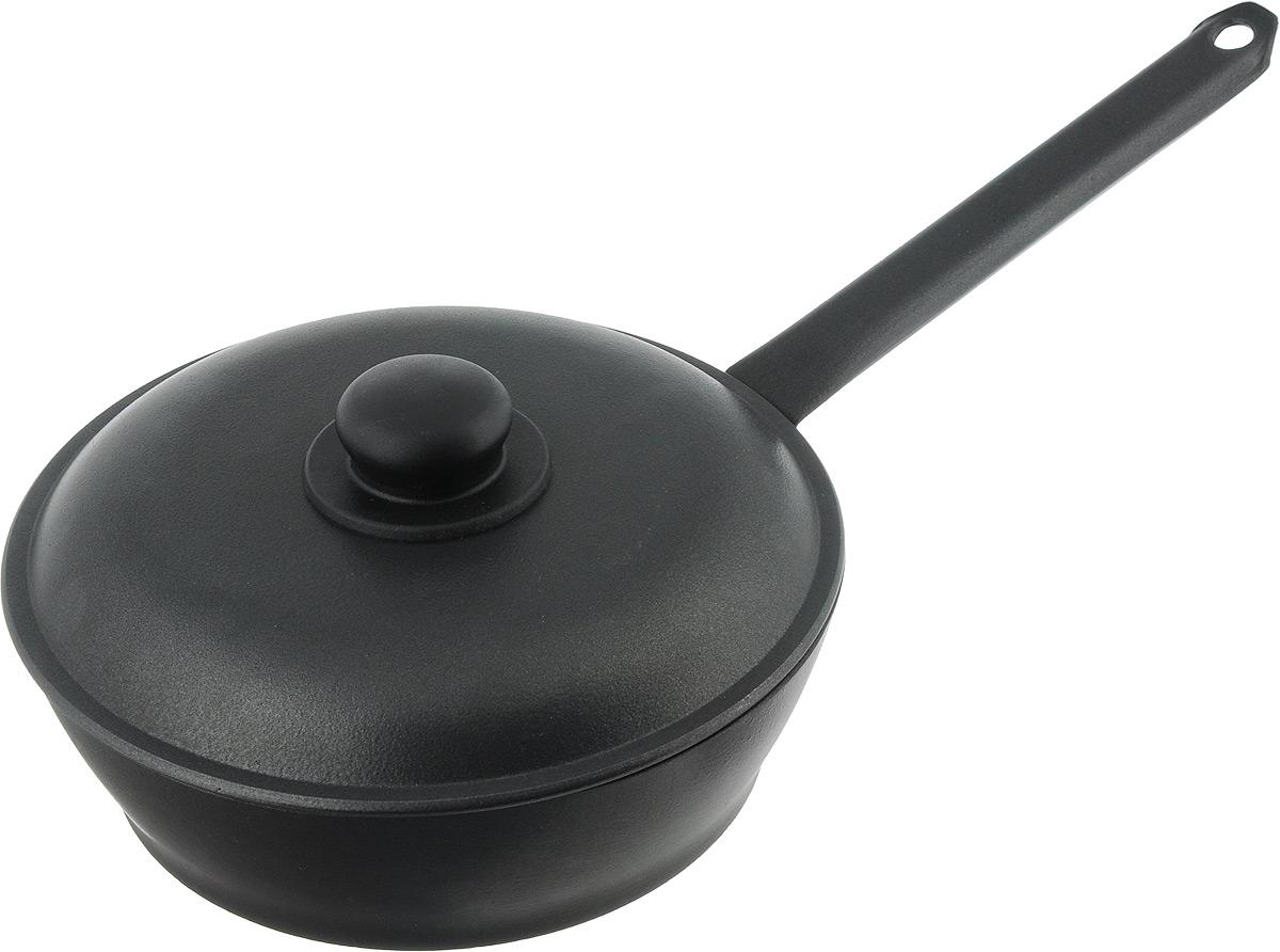 Сковорода Алита Надежда с крышкой, с антипригарным покрытием. Диаметр 24 см. 1790117901Сковорода Алита Надежда изготовлена из литого алюминия с двухсторонним антипригарным покрытием. Благодаря такому покрытию, пища не пригорает и не прилипает к стенкам, готовить можно с минимальным количеством масла и жиров. Гладкая поверхность обеспечивает легкость ухода за посудой. Сковорода оснащена удобной металлической ручкой и крышкой с пластиковой ручкой. Подходит для использования на всех типах плит, кроме индукционных. Диаметр сковороды (по верхнему краю): 24 см. Высота стенки: 7 см. Длина ручки: 23 см.