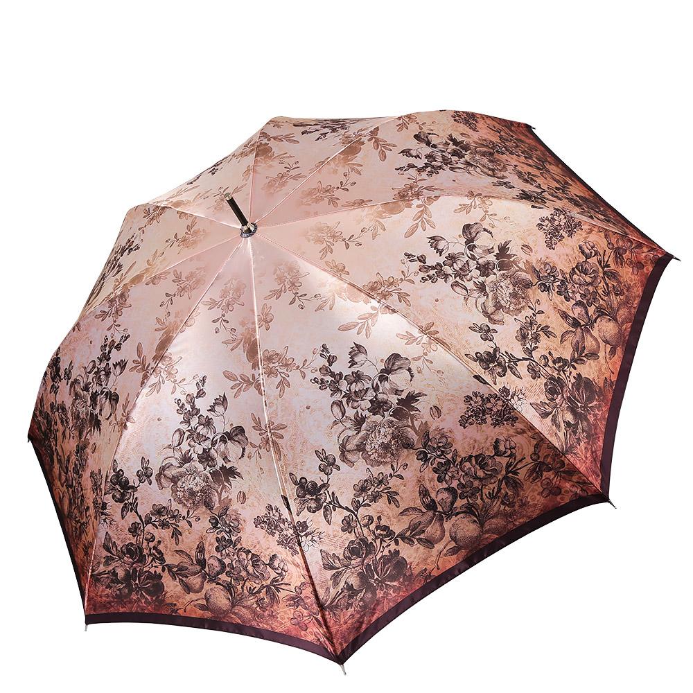 Зонт женский Fabretti, цвет: бежевый. 17091709Женский зонт-трость от итальянского бренда Fabretti выполнен из стали и фибергласса, поэтому модель устойчива к сильному ветру. Женственный нежно-розовый цвет и роскошный принт в стиле барокко подчеркту вашу утонченность и сделают вас неотразимой в любую непогоду. Дизайнерский принт в виде изящного кружевного рисунка дополнит любой современный образ! Материал купола – сатин. Он невероятно изящен, приятен на ощупь, обладает высокой прочностью, а также устойчив к выцветанию. Эргономичная ручка сделана из высококачественного пластика-полиуретана с противоскользящей обработкой!