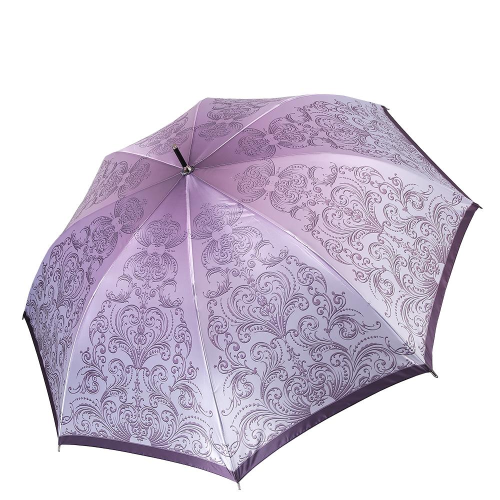 Зонт женский Fabretti, цвет: розовый. 17121712Женский зонт-трость от итальянского бренда Fabretti выполнен из стали и фибергласса, поэтому модель устойчива к сильному ветру. Женственный нежно-розовый цвет и роскошный принт в стиле барокко подчеркту вашу утонченность и сделают вас неотразимой в любую непогоду. Дизайнерский принт в виде изящного кружевного рисунка дополнит любой современный образ! Материал купола – сатин. Он невероятно изящен, приятен на ощупь, обладает высокой прочностью, а также устойчив к выцветанию. Эргономичная ручка сделана из высококачественного пластика-полиуретана с противоскользящей обработкой!