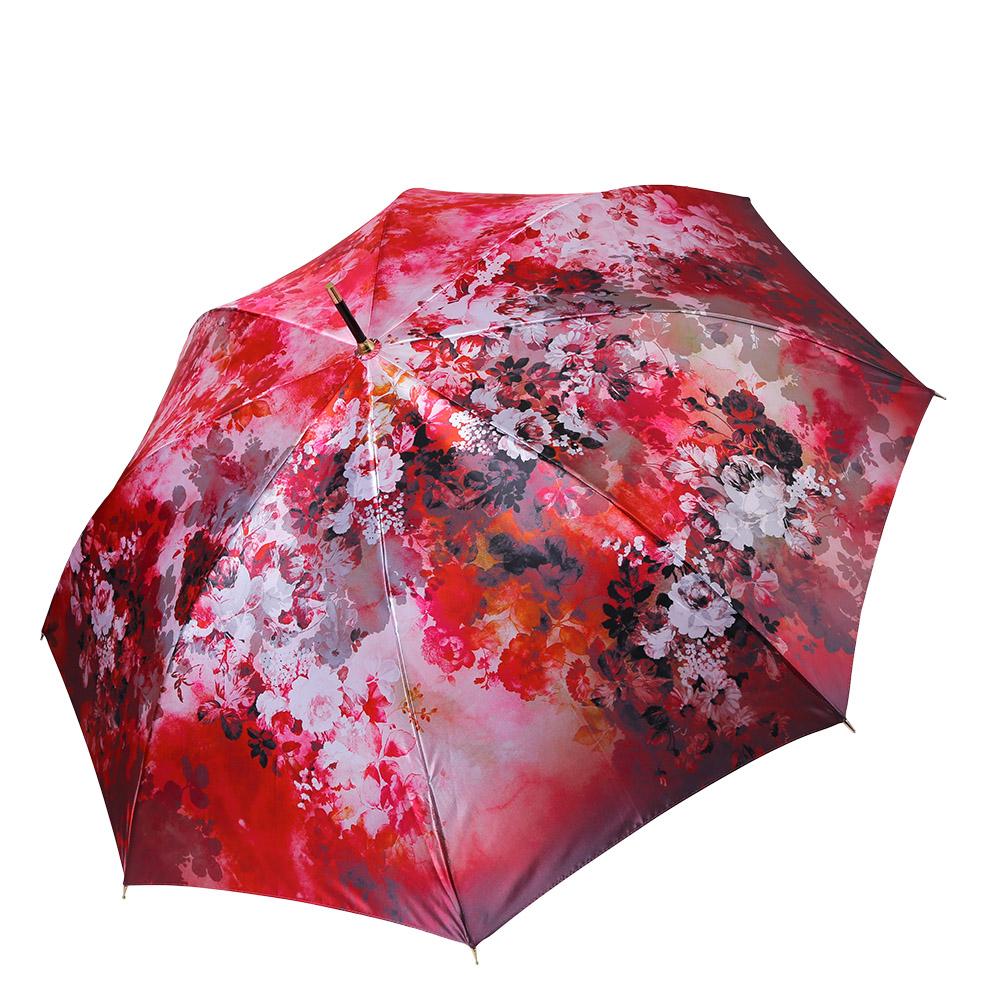 Зонт женский Fabretti, цвет: красный. 17141714Женский зонт-трость от итальянского бренда Fabretti выполнен из стали и фибергласса, поэтому модель устойчива к сильному ветру. Женственный нежно-розовый цвет и роскошный принт в стиле барокко подчеркту вашу утонченность и сделают вас неотразимой в любую непогоду. Дизайнерский принт в виде изящного кружевного рисунка дополнит любой современный образ! Материал купола – сатин. Он невероятно изящен, приятен на ощупь, обладает высокой прочностью, а также устойчив к выцветанию. Эргономичная ручка сделана из высококачественного пластика-полиуретана с противоскользящей обработкой!
