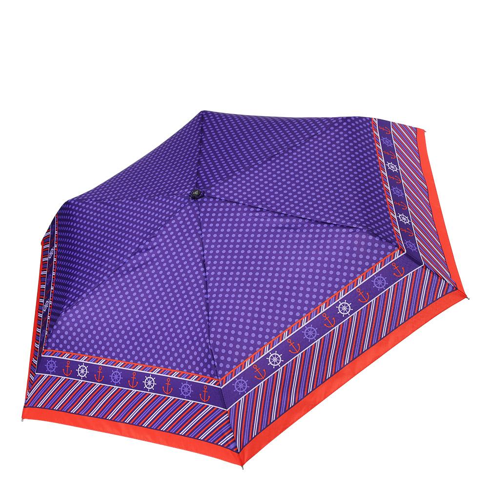 Зонт женский Fabretti, цвет: фиолетовый. MX-17100-2MX-17100-2Миниатюрный женский зонт от итальянского бренда Fabretti очень легок и компактен, поэтому без труда поместится в любую женскую сумочку. Насыщенный фиолетовый цвет и ярко-красная полоска привнесут в ваш образ броские и выразительные нотки итальянского шика. Дизайнерское сочетание геометрических элементов и классического принта горох с легкостью подчеркнут ваш уникальный и современный вкус. Материал купола - эпонж, обладает высокой прочностью и износостойкостью. Вода на куполе из такого материала скатывается каплями вниз, а не впитывается, на нем практически не видны следы изгибов. Эргономичная ручка сделана из высококачественного пластика-полиуретана с противоскользящей обработкой.