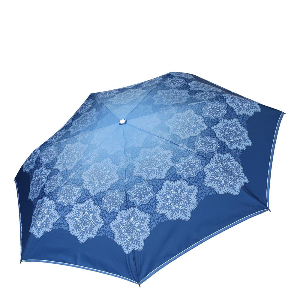 Зонт женский Fabretti, цвет: синий. P-17100-2P-17100-2Компактный женский зонт от итальянского бренда Fabretti очень легок, поэтому без труда поместится в любую женскую сумку. Сочный и яркий синий цвет и дизайнерский принт сделают вас неотразимыми в любую непогоду! Материал купола - эпонж, обладает высокой прочностью и износостойкостью. Вода на куполе из такого материала скатывается каплями вниз, а не впитывается, на нем практически не видны следы изгибов. Эргономичная ручка сделана из высококачественного пластика-полиуретана с противоскользящей обработкой