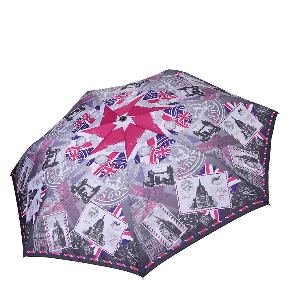 Зонт женский Fabretti, цвет: мультиколор. P-17100-8P-17100-8Компактный женский зонт от итальянского бренда Fabretti очень легок, поэтому без труда поместится в любую женскую сумку. Нежный серый цвет и ультрамодный газетный принт в английской тематике подчеркнут ваш стильный вкус и сделают вас неотразимыми в любую непогоду! Материал купола - эпонж, обладает высокой прочностью и износостойкостью. Вода на куполе из такого материала скатывается каплями вниз, а не впитывается, на нем практически не видны следы изгибов. Эргономичная ручка сделана из высококачественного пластика-полиуретана с противоскользящей обработкой