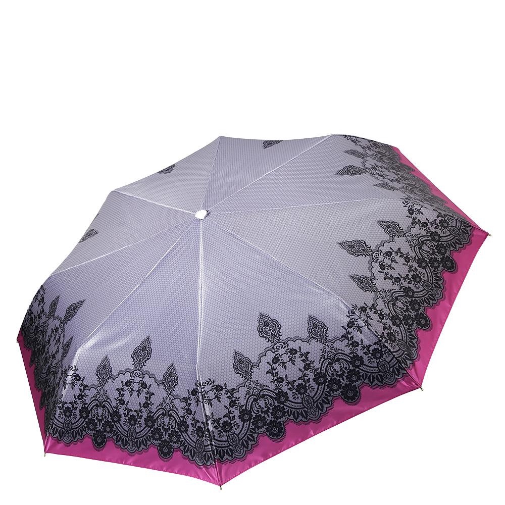 Зонт женский Fabretti, цвет: серый. S-17102-3S-17102-3Элегантный женский зонт от итальянского бренда Fabretti. Женственное сочетание сиреневого и фиолетового оттенка, изысканный цветочный принт и дизайнерские элементы газетного стиля сделают вас неотразимой в любую непогоду! Значительным преимуществом данной модели является система антиветер, которая позволяет выдержать сильные порывы ветра. Материал купола – сатин. Он невероятно изящен, приятен на ощупь, обладает высокой прочностью, а также устойчив к выцветанию. Эргономичная ручка сделана из высококачественного пластика-полиуретана с противоскользящей обработкой.
