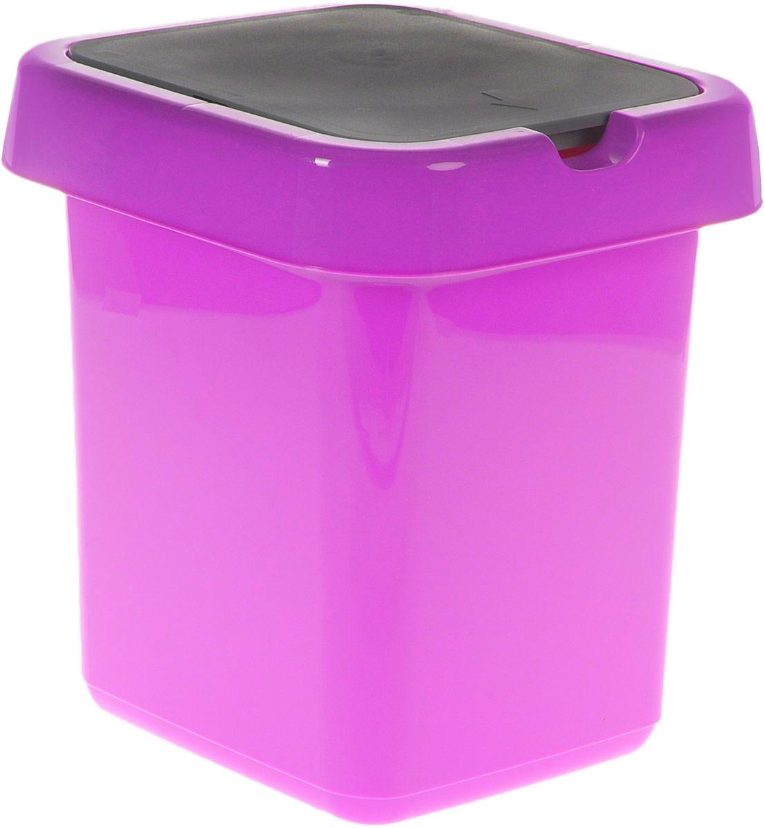 Контейнер для мусора Svip Квадра, цвет: фиолетовый, серый, 9 лSV4042АММусорный контейнер Svip Квадра поможет поддержать порядок и чистоту на кухне, в туалетной комнате или в офисе. Изделие, выполненное из полипропилена, не боится ударов и долгих лет использования. Изделие оснащено крышкой с двойным механизмом открывания, что обеспечивает максимально удобное использование: откидной крышкой можно воспользоваться при выбрасывании большого мусора, крышкой-маятником - для мусора меньшего объема. Скрытые борта в корпусе изделия для аккуратного использования одноразовых пакетов и сохранения эстетики изделия. Съемная верхняя часть контейнера обеспечивает удобство извлечения накопившегося мусора. Эстетика изделия превращает необходимый предмет кухни или туалетной комнаты в стильное дополнение к интерьеру. Его легкость и прочность оптимально решают проблему сбора мусора.