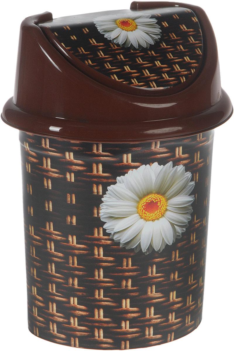 Контейнер для мусора Violet Плетенка, цвет: коричневый, белый, 4 л0404/80_4Контейнер для мусора Violet Плетенка изготовлен из прочного полипропилена (пластика). Такой аксессуар очень удобен в использовании как дома, так и в офисе. Контейнер снабжен удобной съемной крышкой с подвижной перегородкой. Стильный дизайн сделает его прекрасным украшением интерьера. Размер контейнера (с учетом крышки): 20 х 15,5 х 26,5 см.