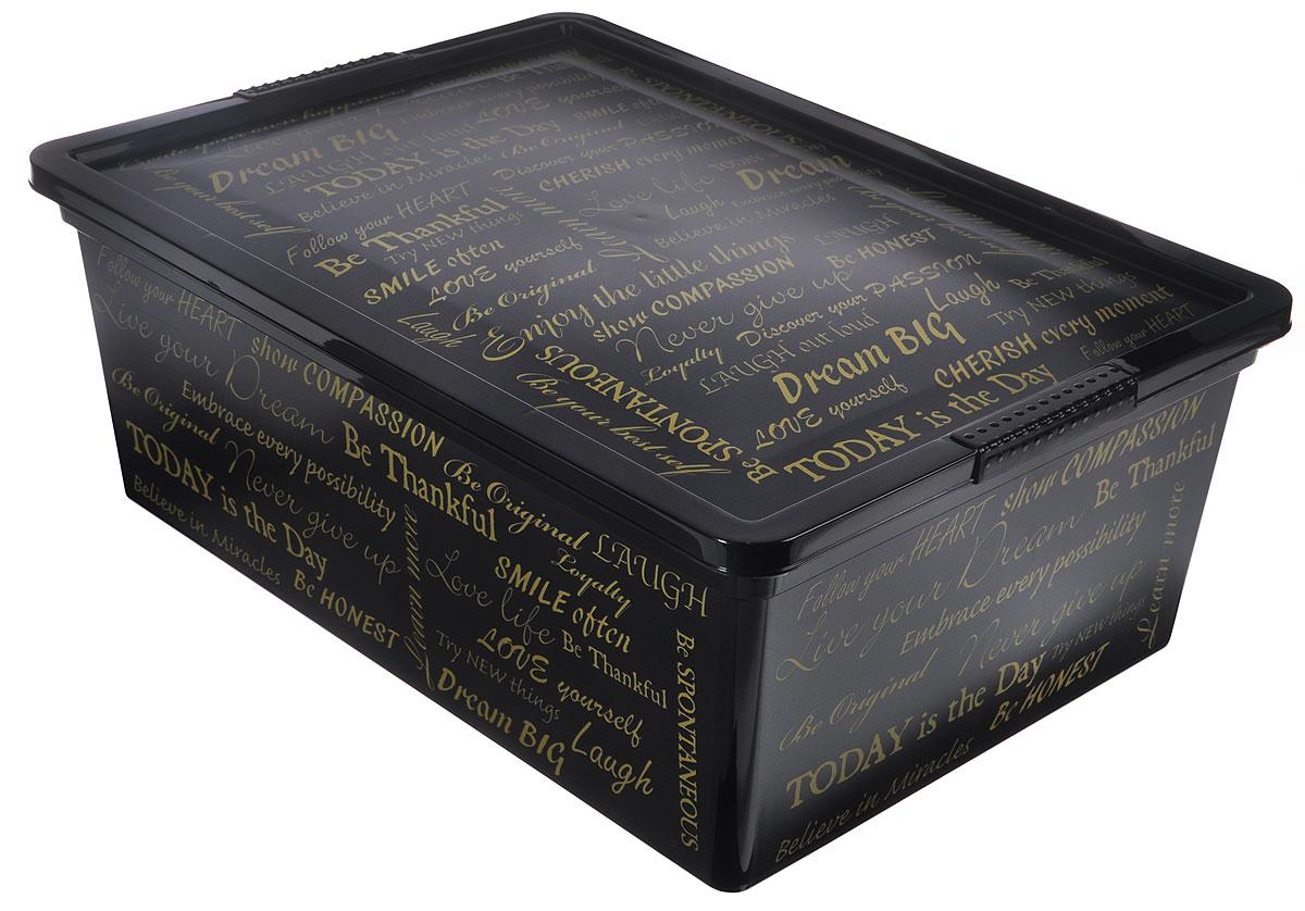 Контейнер для хранения ABM Шрифты, 10 лAB08408SCКонтейнер ABM Шрифты выполнен из прочного полипропилена, пригодного и для контакта с пищевыми продуктами. Материал безопасен для здоровья, не токсичен, не имеет запаха, не вызывает аллергических реакций. Внешние стенки изделия декорированы надписями. В нем удобно хранить различные бытовые вещи, позволит сохранить их в порядке и защитит содержимое от пыли и грязи. Контейнер плотно закрывается крышкой. Размер контейнера (с учетом крышки): 36,5 х 26 х 14 см.
