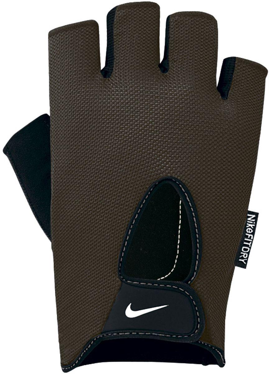 Перчатки для фитнеса женские Nike Wmn Fundamental Fitness Gloves, цвет: серый. Размер S9.092.067.047.Внутренняя часть перчаток выполнена из замшезаменителя, что обеспечивает комфорт и долговечность в использовании данного аксессуара. Регулируемая застежка на запястье обеспечивает надежную посадку