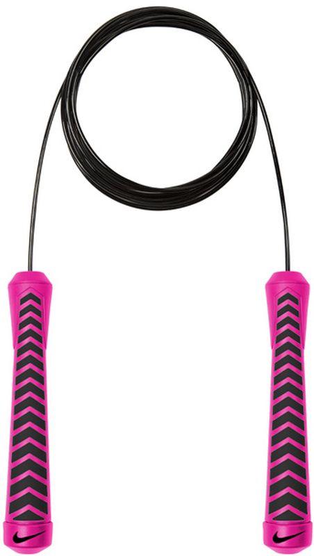 Скакалка Nike Intensity Speed Rope, цвет: розовый, черныйN.ER.30.645.NSШариковые подшипники в ручках для увеличения скорости. Вес скакалки оптимален для поддержания скорости. Удобные ручки с нескользким покрытием. Регулируемая длина.