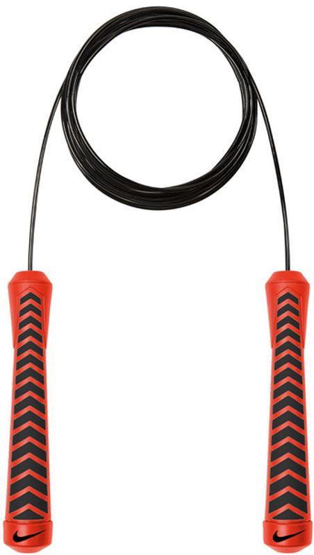 Скакалка Nike Intensity Speed Rope, цвет: коралловый, черныйN.ER.30.869.NSШариковые подшипники в ручках для увеличения скорости. Вес скакалки оптимален для поддержания скорости. Удобные ручки с нескользким покрытием. Регулируемая длина.