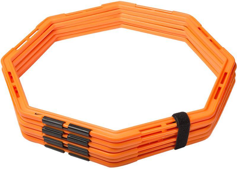Кольца для тренировок Nike Agility WebN.EX.11.829.NSВосьмигранные кольца для тренировок на скорость и ловкость со сменой направлений. Простые в использовании резиновые соединения позволяют создавать разнообразные схемы для упражнений. Прочные, устойчивые к повреждениям кольца идеальны для спорт сменов всех уровней. Легко складываются для компактного хранения. Несколько комплектов могут быть соединены для создания более сложных и долгих упражнений. В комплекте 6 колец.