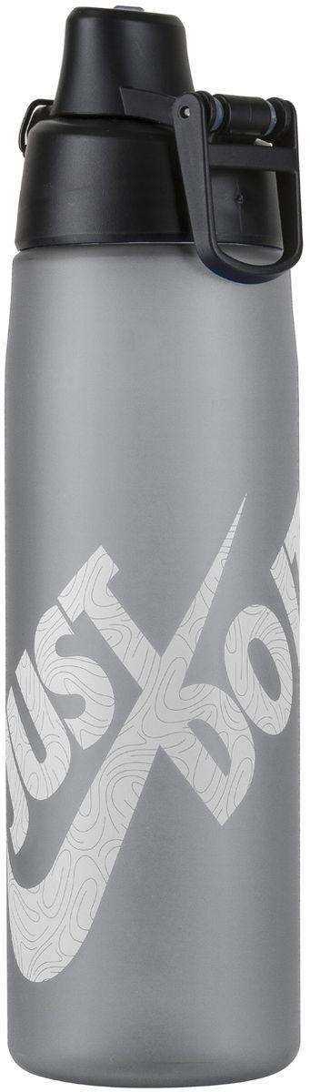 Бутылка для воды Nike Core Hydro Flow Just Do It Swoosh Water Bottle, цвет: серый, белый, 709 млN.OB.C1.029.24Герметичная крышка открывается одним нажатием на кнопку, что обеспечивает легкий в использовании механизм закрытия/открытия. Возможность мытья в посудомоечной машине – легко разбирается и собирается (инструкция прилагается). Без токсичных БФА. Матовое приятное на ощупь покрытие. Объем 709мл. Конструкция из литого тритана обеспечивает долговечность и ударопрочность.