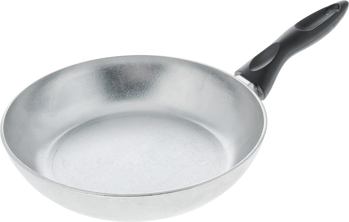 Сковорода Алита Сударыня. Диаметр 24 см11100Сковорода Алита Хозяюшка изготовлена из литого алюминия. Пища не пригорает и не прилипает к стенкам, готовить можно с минимальным количеством масла и жиров. Гладкая поверхность обеспечивает легкость ухода за посудой. Сковорода оснащена удобной ручкой. Подходит для использования на всех типах плит, кроме индукционных. Диаметр сковороды (по верхнему краю): 24 см. Высота стенки: 5,5 см. Длина ручки: 15,5 см.