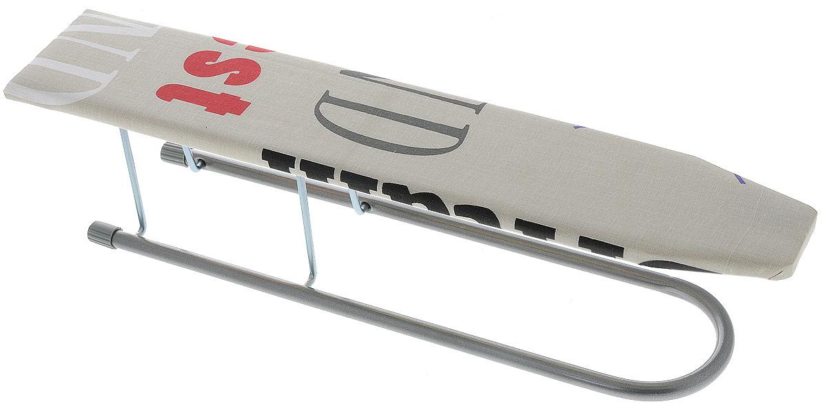Подрукавник Nika, для гладильной доски, складной, цвет: бежевый, 50 х 9 смП_бежевыйПодрукавник для гладильной доски Nika, выполнен из высококачественных материалов. Рабочая поверхность изготовлена из фанеры и обтянута чехлом из хлопка. Изделие легко раскладывается, а в сложенном виде не занимает много места. Оформлен подрукавник стильным принтом с надписями. Размер рабочей поверхности: 50 х 9 см Размер доски в сложенном виде: 59 х 9 х 3 см.