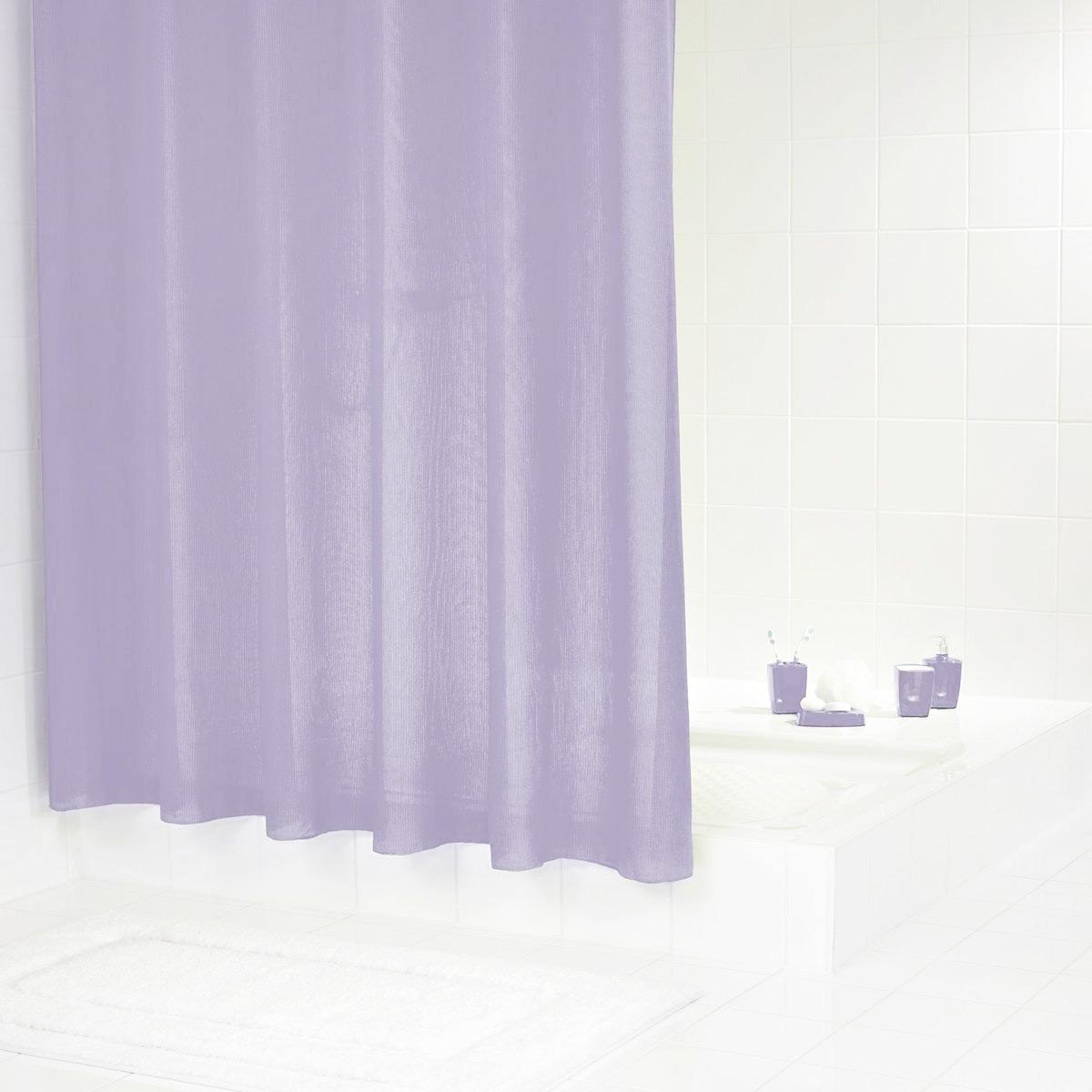 Штора для ванной комнаты Ridder Rubin, цвет: фиолетовый, 180 х 200 см48371Высококачественная немецкая шторка для душа создает прекрасное настроение. Данный продукт имеет антигрибковое, водоотталкивающее и антистатическое покрытие. Качественная обстрочка всех кантов. Утяжелённый нижний кант из каучука. Машинная стирка. Глажка при низкой температуре.