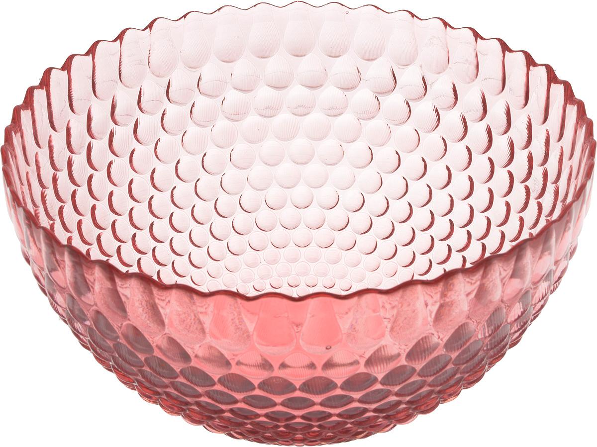 Салатник NiNaGlass Роса, цвет: розовый, диаметр 25 см83-061-Ф250 РОЗСалатник NiNaGlass Роса выполнен из высококачественного стекла и декорирован рельефным узором. Он подойдет для сервировки стола как для повседневных, так и для торжественных случаев. Такой салатник прекрасно впишется в интерьер вашей кухни и станет достойным дополнением к кухонному инвентарю. Подчеркнет прекрасный вкус хозяйки и станет отличным подарком. Диаметр салатника (по верхнему краю): 25 см. Высота стенки салатника: 13 см.