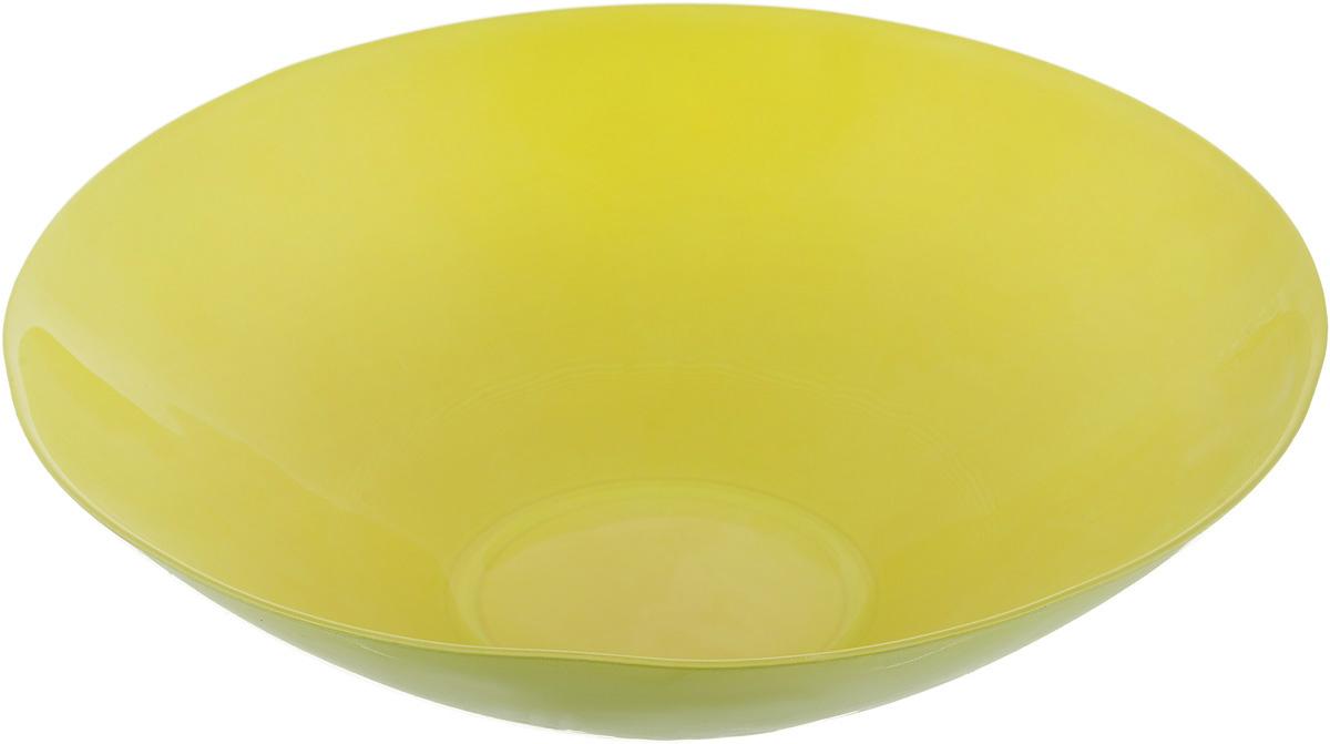 Салатник NiNaGlass Голландия, цвет: желто-зеленый, диаметр 25 см83-012-ф25 Ж-ЗСалатник NiNaGlass Голландия выполнен из высококачественного матового стекла. Салатник идеален для сервировки салатов, овощей, ягод, фруктов, гарниров и многого другого. Он отлично подойдет как для повседневных, так и для торжественных случаев. Такой салатник прекрасно впишется в интерьер вашей кухни и станет достойным дополнением к кухонному инвентарю. Диаметр салатника (по верхнему краю): 25 см. Высота стенки: 7,5 см.