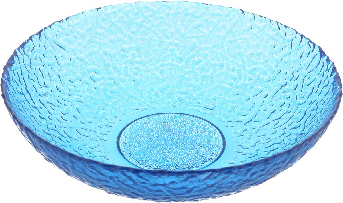 Тарелка NiNaGlass Ажур, цвет: синий, диаметр 20 см83-072-ф200/H50 СИНТарелка NiNaGlass Ажур выполнена из высококачественного стекла и имеет рельефную внешнюю поверхность. Она прекрасно впишется в интерьер вашей кухни и станет достойным дополнением к кухонному инвентарю. Тарелка NiNaGlass Ажур подчеркнет прекрасный вкус хозяйки и станет отличным подарком. Диаметр тарелки: 20 см. Высота: 5 см.