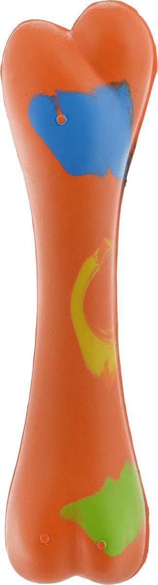 Игрушка для собак Каскад Кость цельнолитая, цвет: оранжевый, длина 17 см27799284_оранжевыйИгрушка для собак Каскад Кость цельнолитая, изготовленная из прочной резины в виде косточки, обязательно понравится вашей собаке. Идеально подойдет для жевания и разгрызания. Игрушка отличается прочностью и в то же время гибкостью и эластичностью. Такая игрушка порадует вашего любимца, а вам доставит массу приятных эмоций, ведь наблюдать за игрой всегда интересно и приятно. Великолепно подходит для активных, ведущих спортивный образ жизни собак.