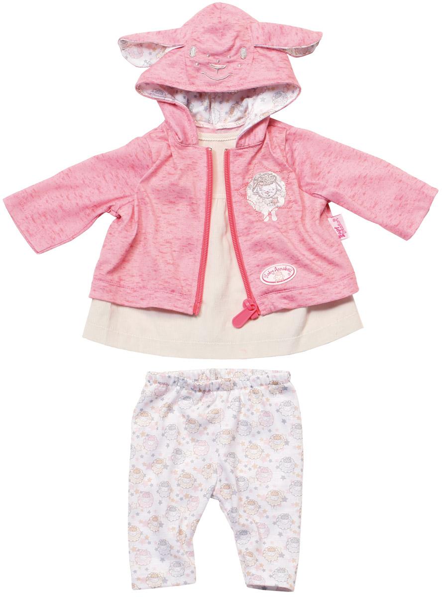 Baby Annabell Одежда для кукол цвет молочный розовый 700-105