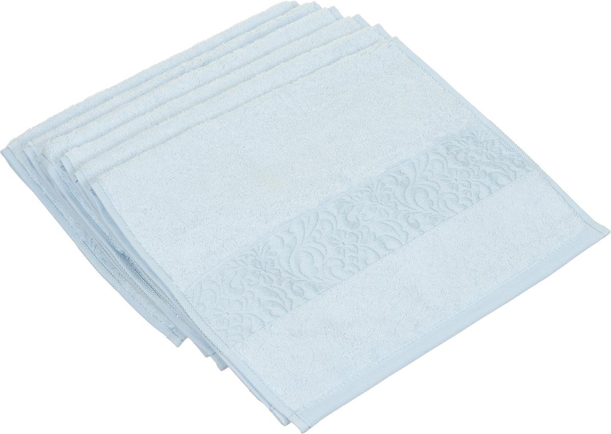 Набор полотенец Issimo Home Valencia, цвет: ментоловый, 30 х 50 см, 6 шт00000004888Набор Issimo Home Valencia состоит из 6 полотенец, выполненных из 60% бамбукового волокна и 40% хлопка. Такими полотенцами не нужно вытираться - только коснитесь кожи - и ткань сама все впитает. Такая ткань впитывает в 3 раза лучше, чем хлопок. Набор из маленьких полотенец-салфеток очень практичен - он станет незаменимым в дороге и в путешествиях. Кроме того, это хороший, красивый и изысканный подарок. Несмотря на богатую плотность и высокую петлю полотенец, они быстро сохнут, остаются легкими даже при намокании.