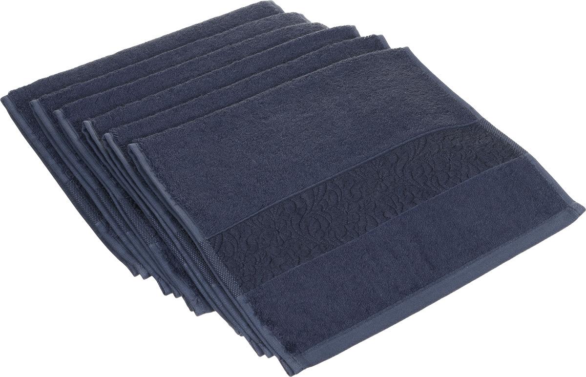 Набор полотенец Issimo Home Valencia, цвет: темно-синий, 30 х 50 см, 6 шт00000004896Набор Issimo Home Valencia состоит из 6 полотенец, выполненных из 60% бамбукового волокна и 40% хлопка. Такими полотенцами не нужно вытираться - только коснитесь кожи - и ткань сама все впитает. Такая ткань впитывает в 3 раза лучше, чем хлопок. Набор из маленьких полотенец-салфеток очень практичен - он станет незаменимым в дороге и в путешествиях. Кроме того, это хороший, красивый и изысканный подарок. Несмотря на богатую плотность и высокую петлю полотенец, они быстро сохнут, остаются легкими даже при намокании.