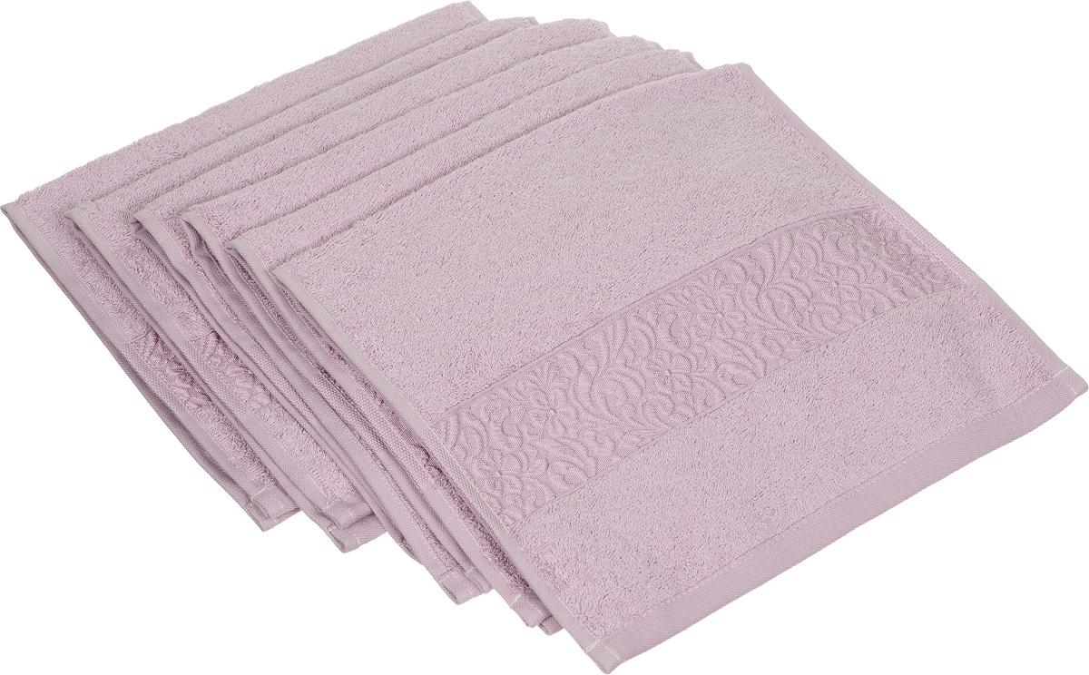 Набор полотенец Issimo Home Valencia, цвет: светло-пурпурный, 30 х 50 см, 6 шт00000004832Набор Issimo Home Valencia состоит из 6 полотенец, выполненных из 60% бамбукового волокна и 40% хлопка. Такими полотенцами не нужно вытираться - только коснитесь кожи - и ткань сама все впитает. Такая ткань впитывает в 3 раза лучше, чем хлопок. Набор из маленьких полотенец-салфеток очень практичен - он станет незаменимым в дороге и в путешествиях. Кроме того, это хороший, красивый и изысканный подарок. Несмотря на богатую плотность и высокую петлю полотенец, они быстро сохнут, остаются легкими даже при намокании.