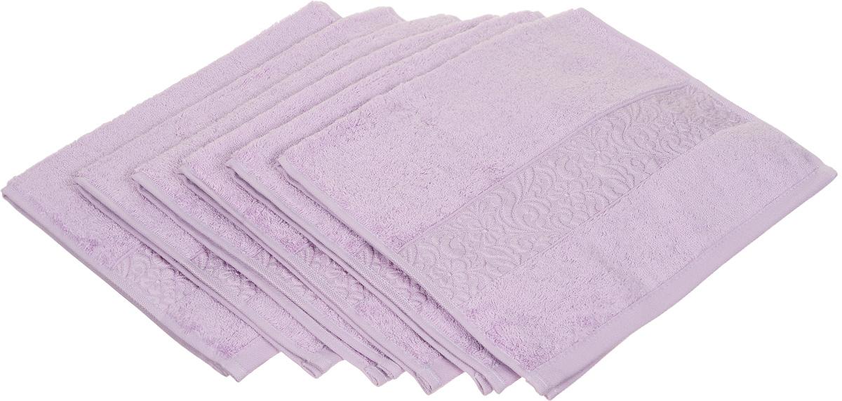 Набор полотенец Issimo Home Valencia, цвет: светло-сиреневый, 30 х 50 см, 6 шт00000004880Набор Issimo Home Valencia состоит из 6 полотенец, выполненных из 60% бамбукового волокна и 40% хлопка. Такими полотенцами не нужно вытираться - только коснитесь кожи - и ткань сама все впитает. Такая ткань впитывает в 3 раза лучше, чем хлопок. Набор из маленьких полотенец-салфеток очень практичен - он станет незаменимым в дороге и в путешествиях. Кроме того, это хороший, красивый и изысканный подарок. Несмотря на богатую плотность и высокую петлю полотенец, они быстро сохнут, остаются легкими даже при намокании.