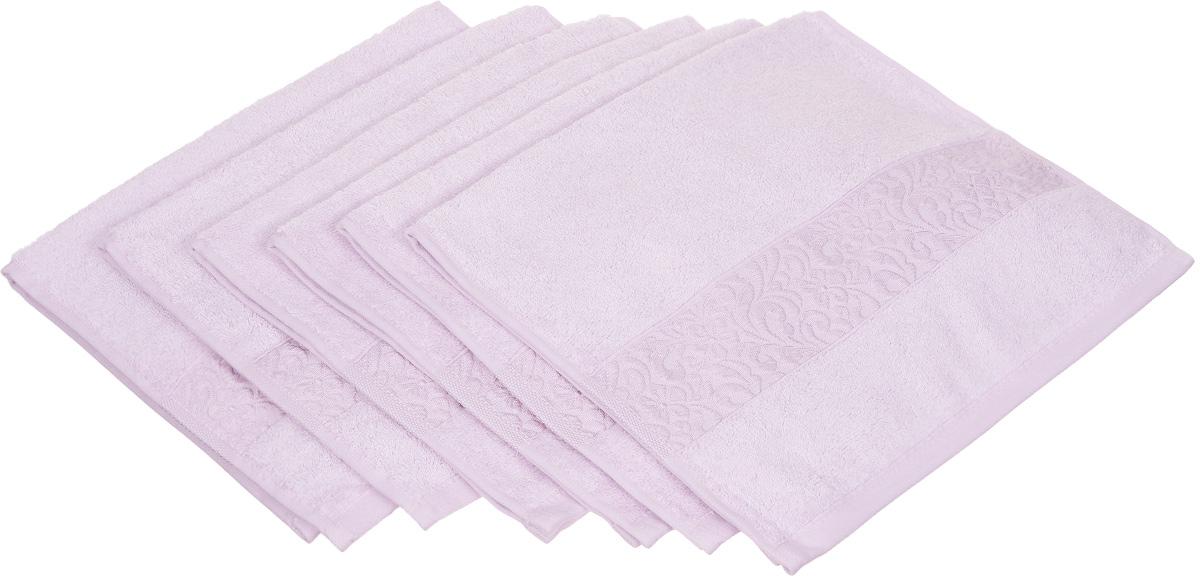 Набор полотенец Issimo Home Valencia, цвет: лиловый, 30 х 50 см, 6 шт00000004853Набор Issimo Home Valencia состоит из 6 полотенец, выполненных из 60% бамбукового волокна и 40% хлопка. Такими полотенцами не нужно вытираться - только коснитесь кожи - и ткань сама все впитает. Такая ткань впитывает в 3 раза лучше, чем хлопок. Набор из маленьких полотенец-салфеток очень практичен - он станет незаменимым в дороге и в путешествиях. Кроме того, это хороший, красивый и изысканный подарок. Несмотря на богатую плотность и высокую петлю полотенец, они быстро сохнут, остаются легкими даже при намокании.