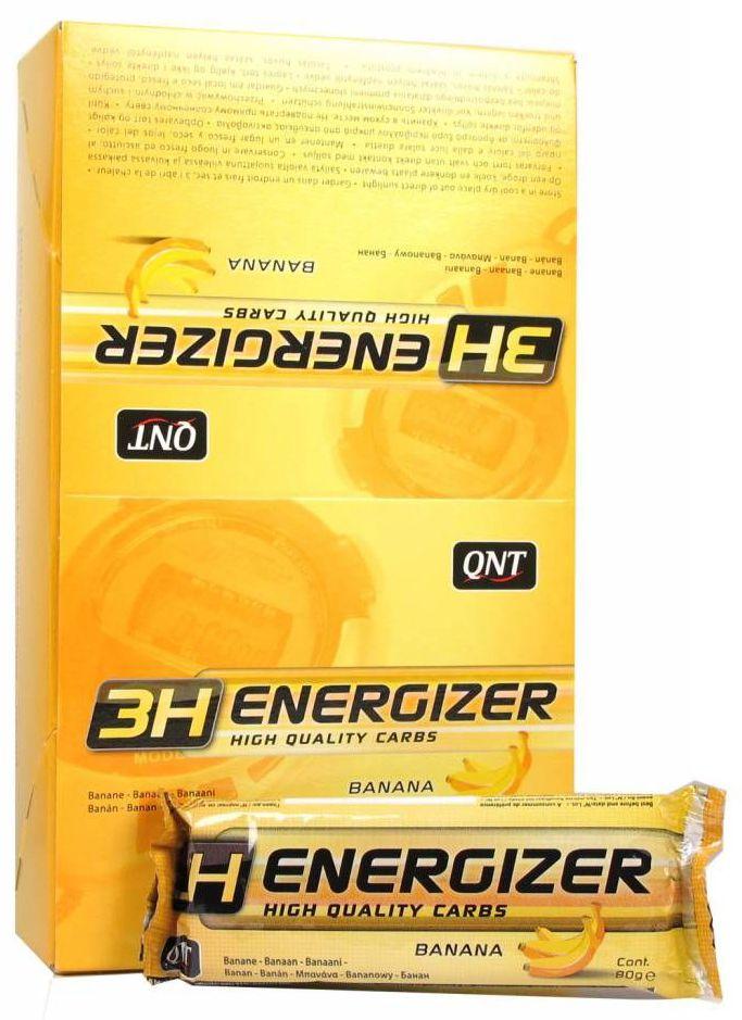 QNT Энергетический тортик Energizer Bar 3H, шоколад, 80 гQNT1054Energizer Bar – энергетический батончик 80 г, на основе злаков, содержит быстрые и медленные углеводы.Идеален для того чтобы подкрепиться, он помогает поддерживать повышенный уровень гликогена во время тренировки.